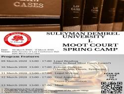 SULEYMAN DEMIREL UNIVERSITY I. MOOT COURT SPRING CAMP